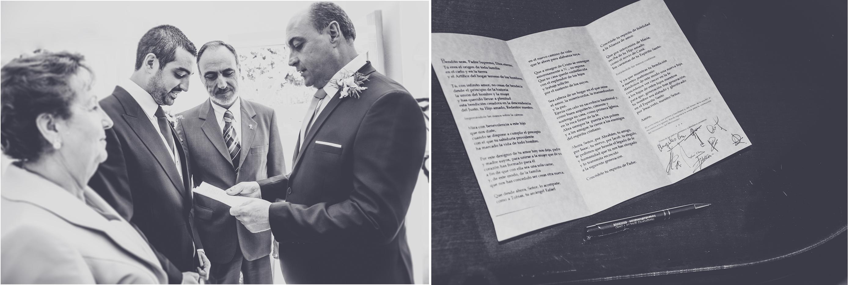 fotógrafos de boda en la iglesia de los franciscanos- dando las bendiciones