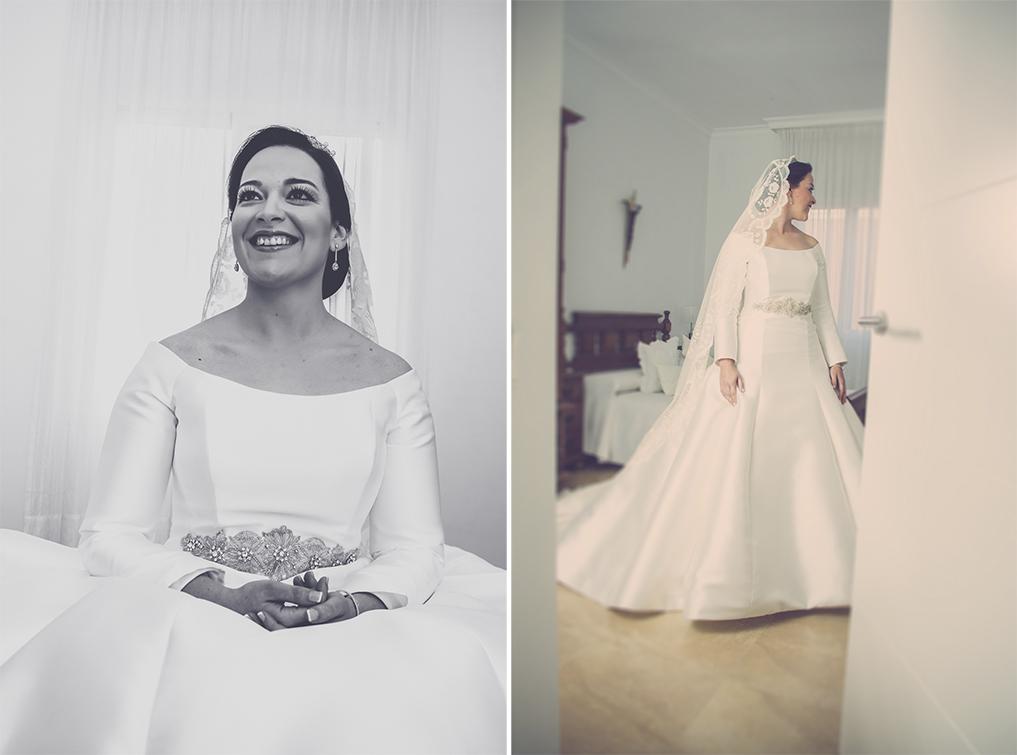 fotógrafos de boda en la plaza de toros de almería - Novia arrenglándose