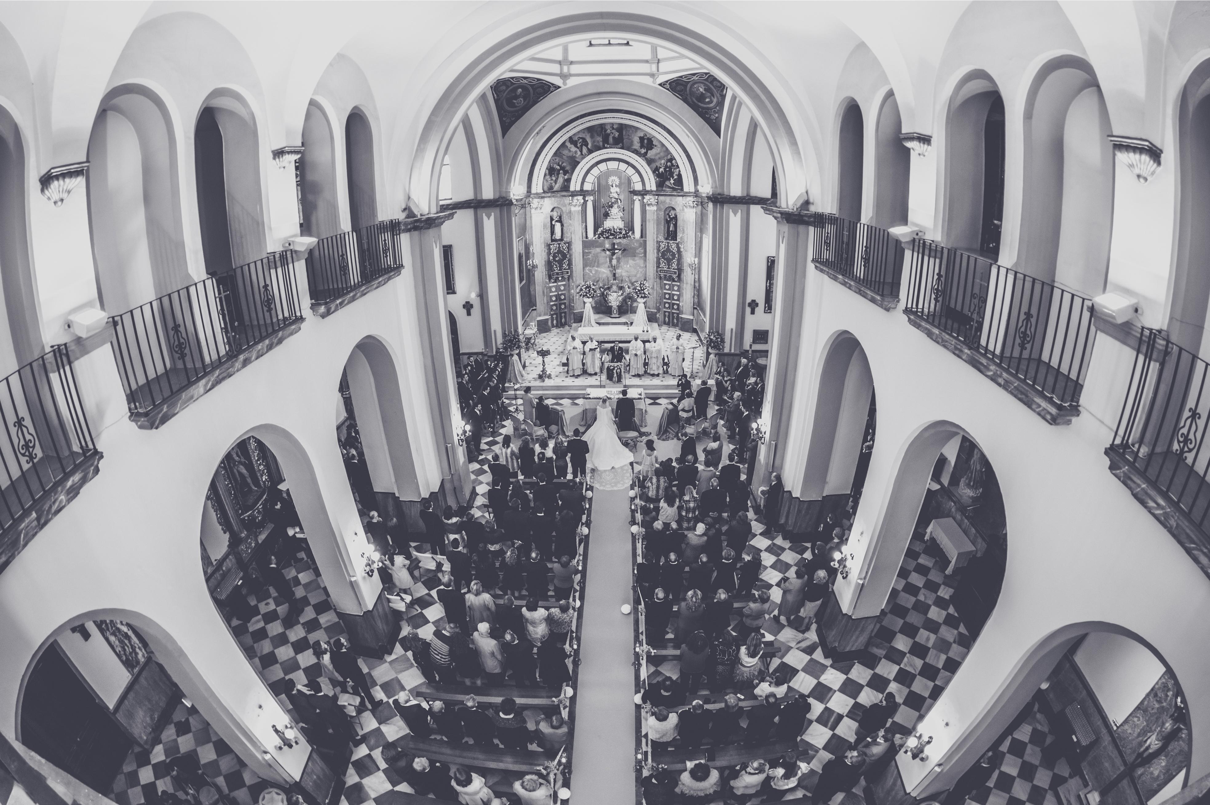 fotógrafos de boda en la plaza de toros de almería - iglesia de los franciscanos panorámica