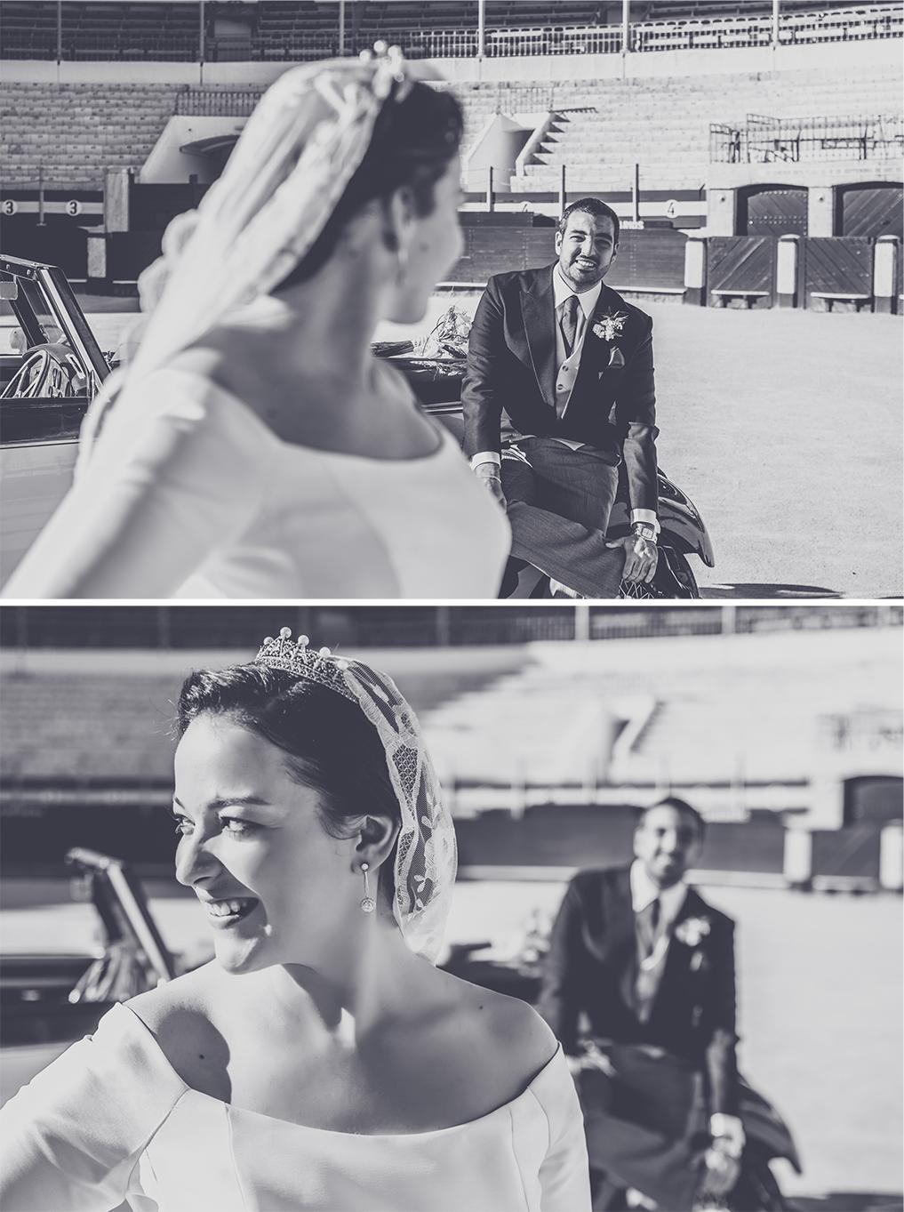 fotógrafos de boda en la plaza de toros de almería - retratos de novios