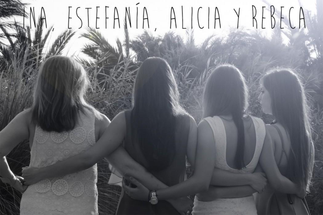 Ina, Estefanía, Alicia y Rebeca. Reportaje familiar.